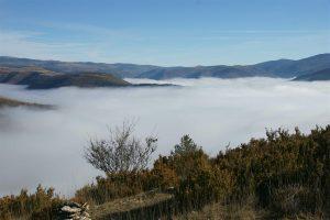 fog in the Briançon valley