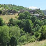 perched on the hillside : Malbosc
