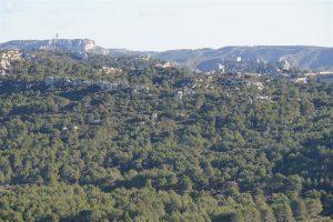 Line of site from Montpaon to the castle at Les Baux de Provence